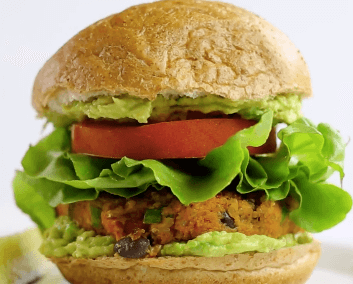 Sødkartoffel-black-bean-burgere