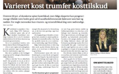 Kosttilskud, Jyllandsposten