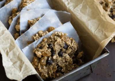 Havregrøds-choko-snacks