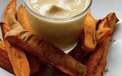 Fritter m. macadamia-dip