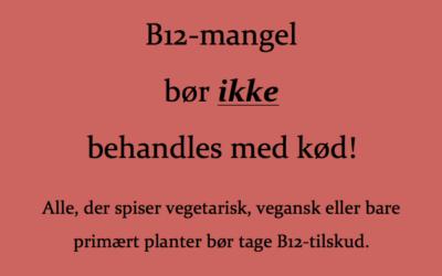 B12-mangel skal ikke behandles med kød